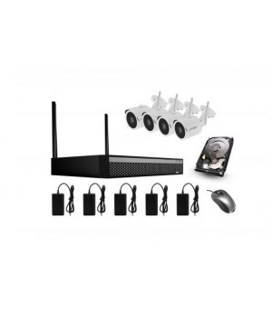 Bezicni video nadzor CroCam 2MP 4CH WIFI Kit Udaljenost: 300m Max, H.265/H.265+