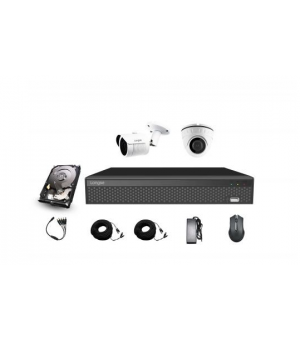 XVR KIT 2 FullHD kamere XVRA2004D2M200 2MP