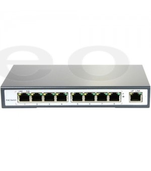 POE SWITCH 8-PORT + 2UP WAN + extend opcija 200m