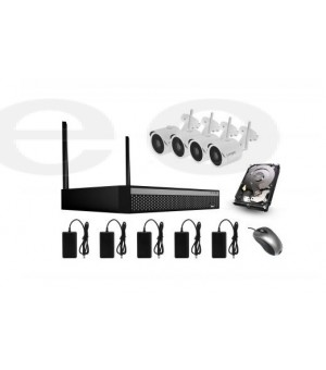 Bezicni video nadzor 4 wifi kamere CroCam 2MP 8 kanalni WIFI NVR Kit Udaljenost: 300m Max, H.265/H.265+